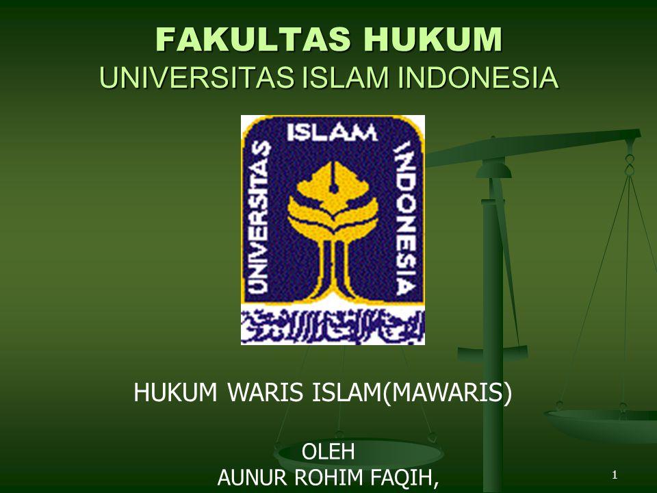 FAKULTAS HUKUM UNIVERSITAS ISLAM INDONESIA