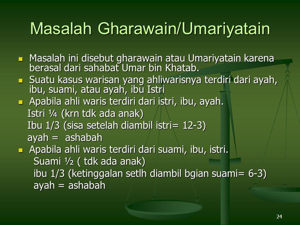 Masalah Gharawain/Umariyatain