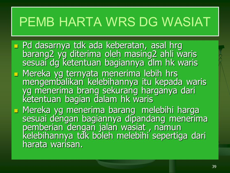 PEMB HARTA WRS DG WASIAT