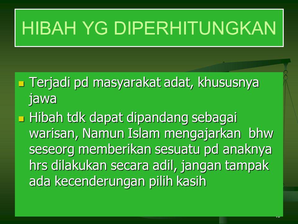 HIBAH YG DIPERHITUNGKAN