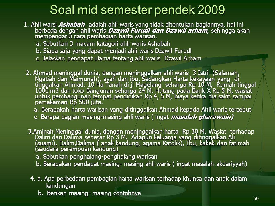 Soal mid semester pendek 2009