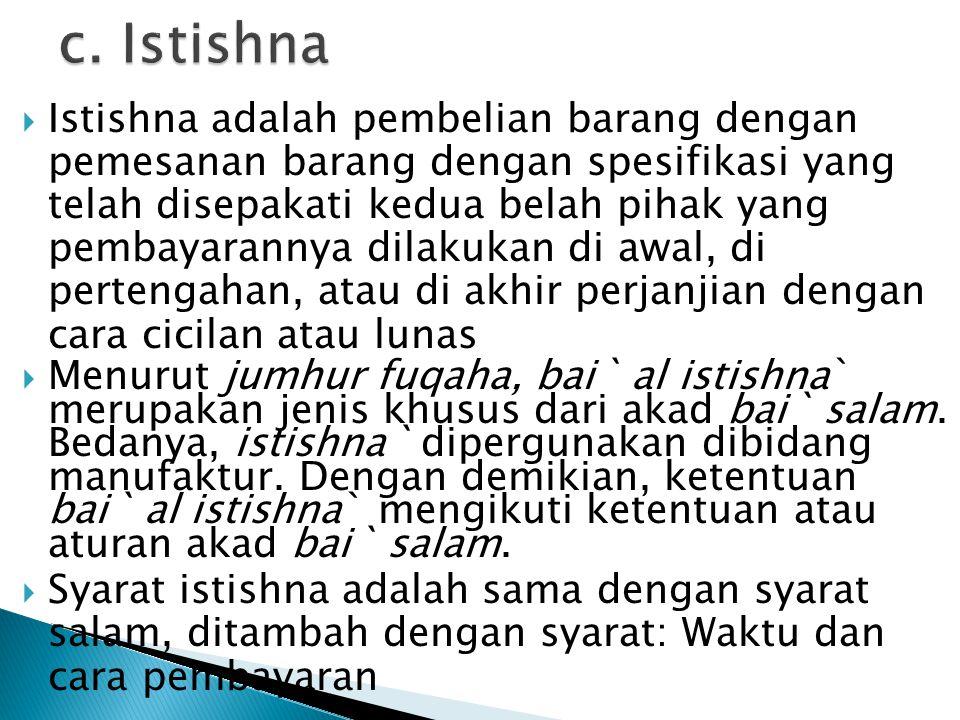 c. Istishna