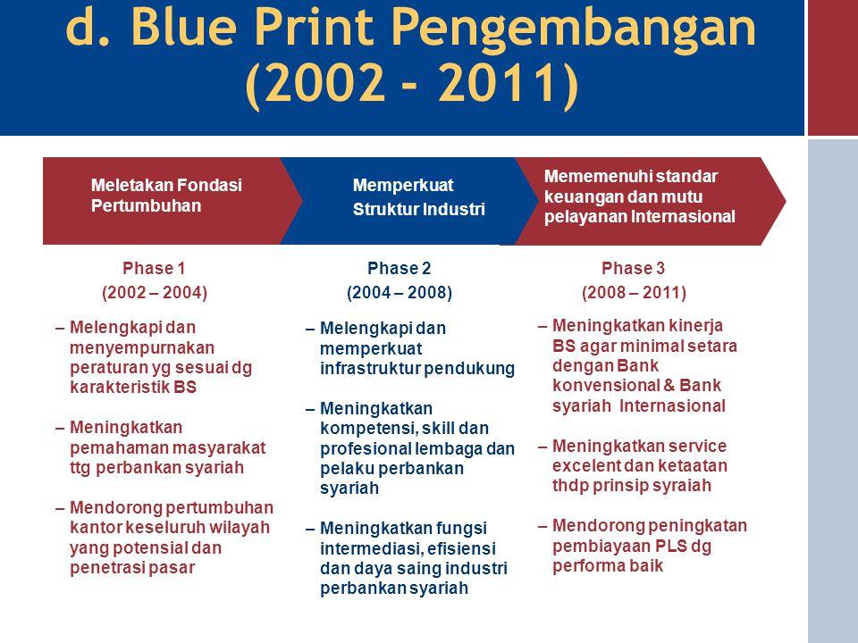 d. Blue Print Pengembangan (2002 - 2011)