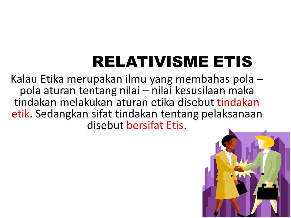 RELATIVISME ETIS
