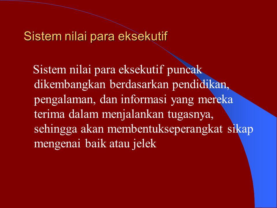 Sistem nilai para eksekutif