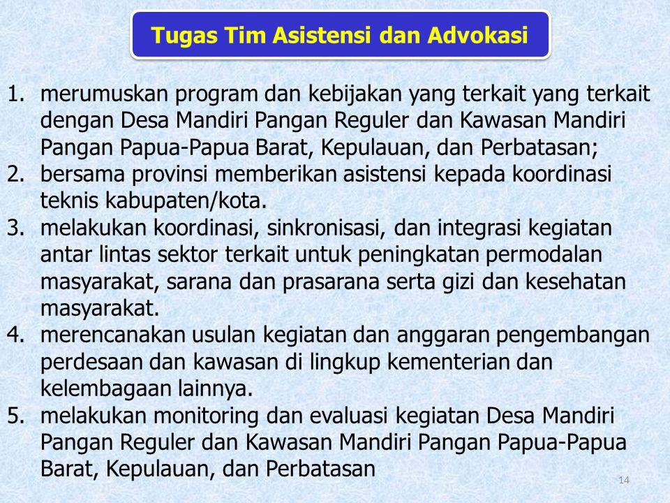 Tugas Tim Asistensi dan Advokasi