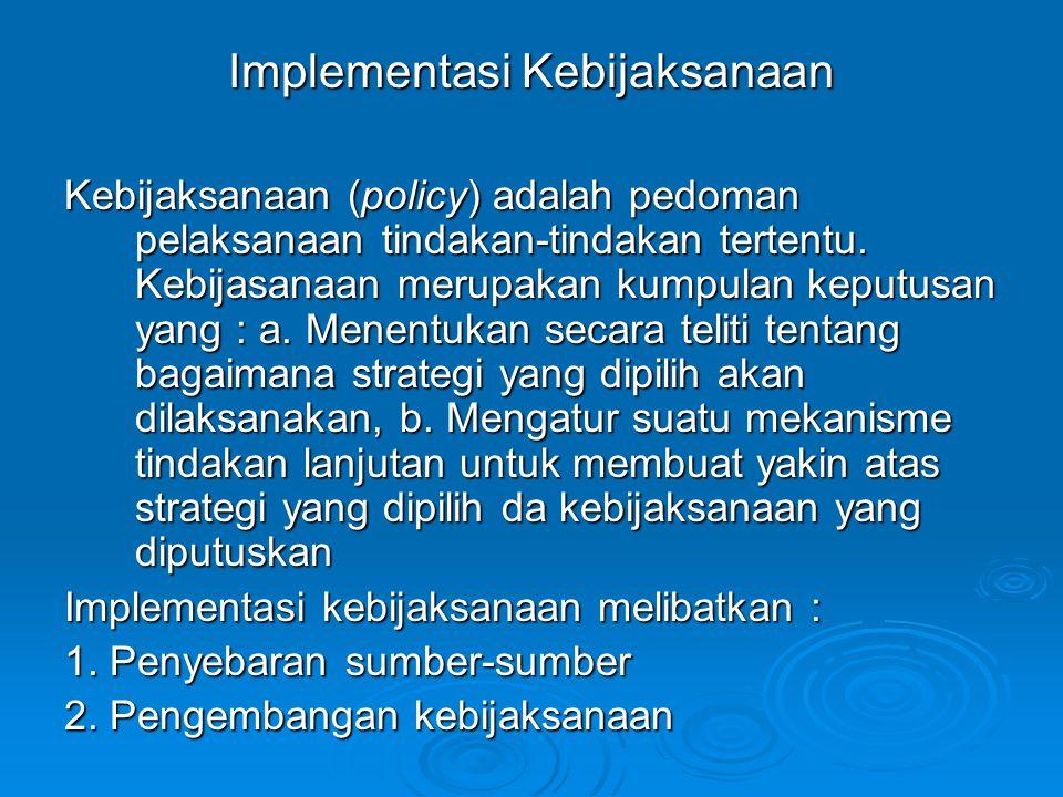 Implementasi Kebijaksanaan