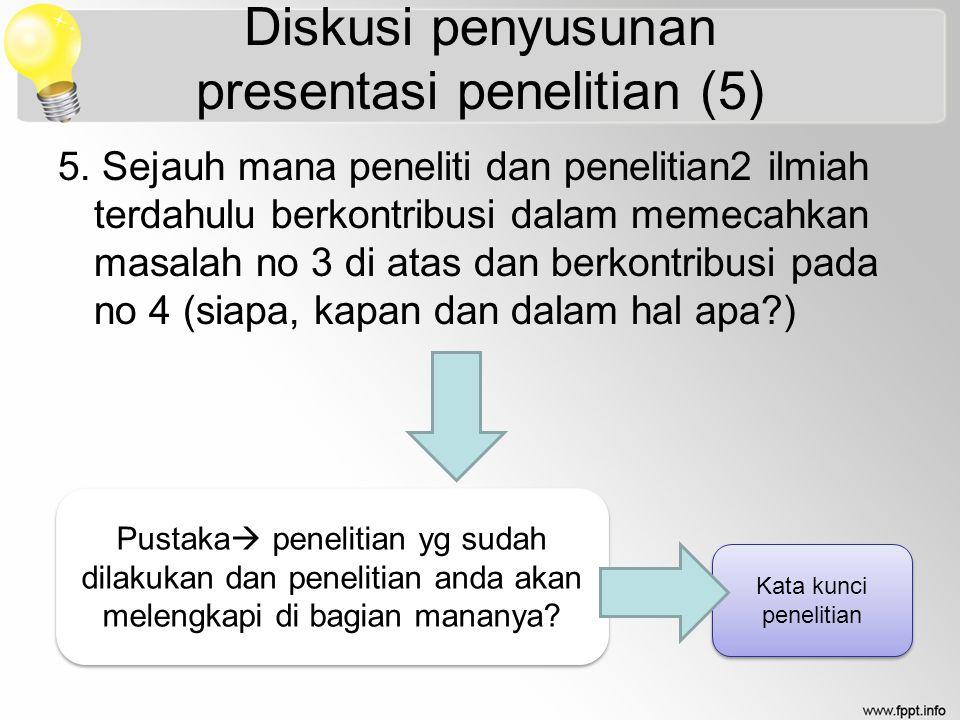 Diskusi penyusunan presentasi penelitian (5)