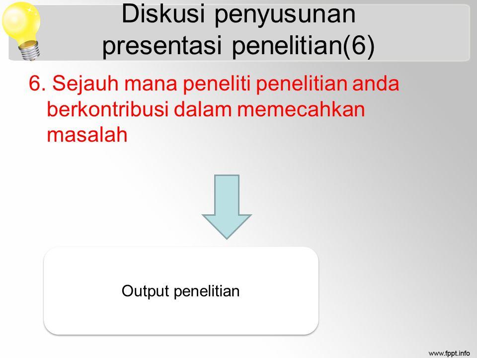 Diskusi penyusunan presentasi penelitian(6)