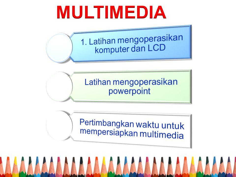 MULTIMEDIA 1. Latihan mengoperasikan komputer dan LCD