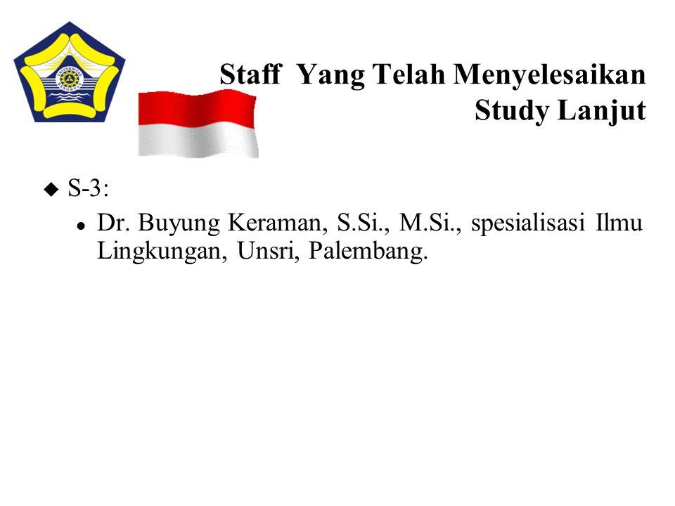 Staff Yang Telah Menyelesaikan Study Lanjut