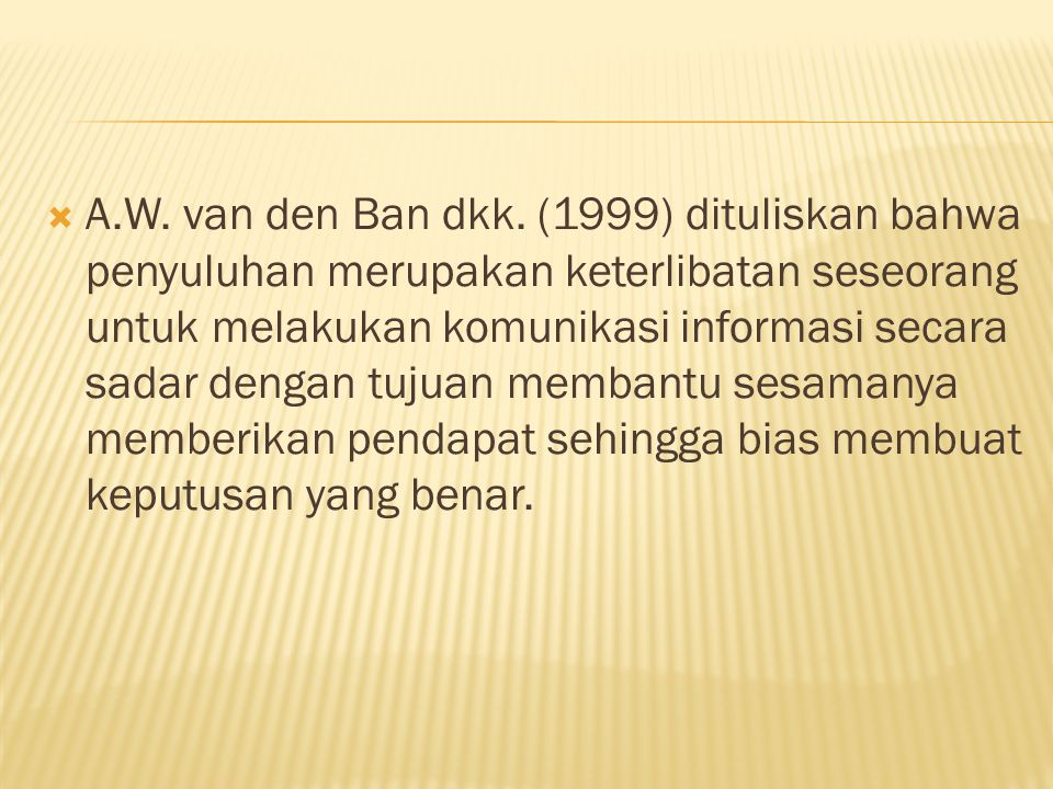 A.W. van den Ban dkk.