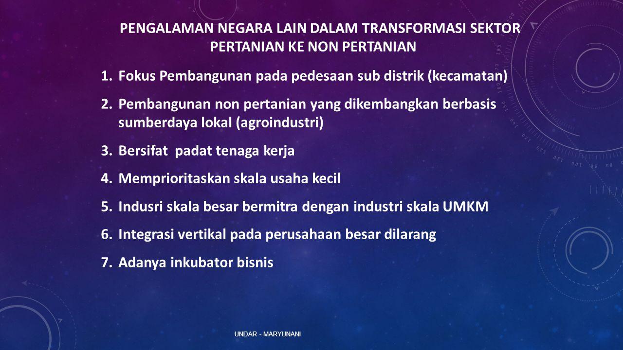 Fokus Pembangunan pada pedesaan sub distrik (kecamatan)