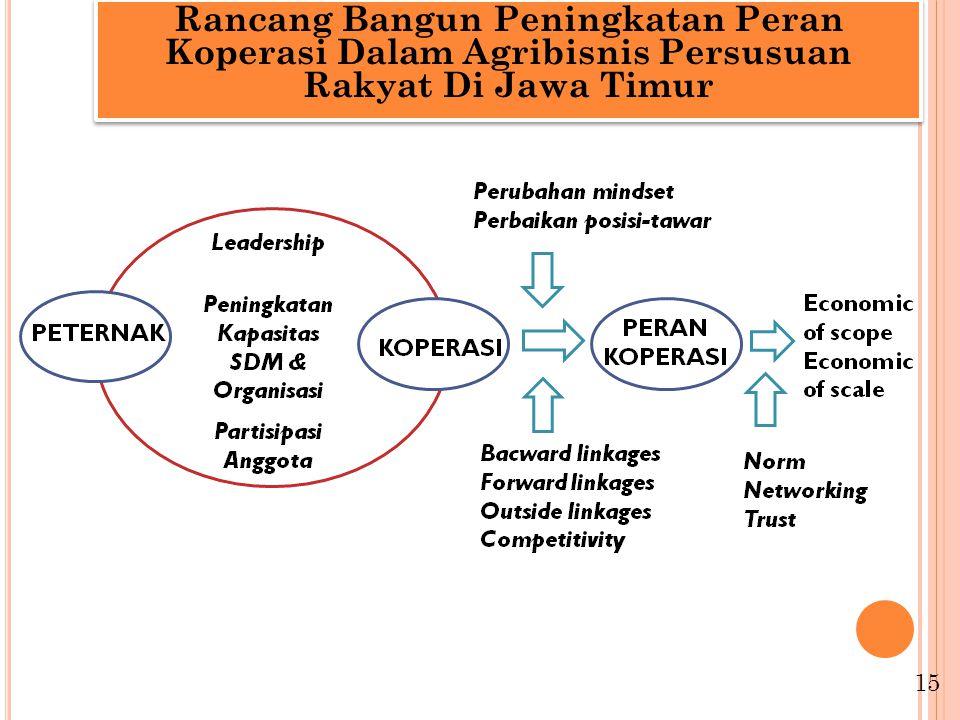 Rancang Bangun Peningkatan Peran Koperasi Dalam Agribisnis Persusuan Rakyat Di Jawa Timur