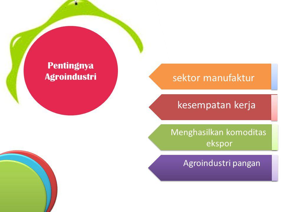 sektor manufaktur kesempatan kerja Pentingnya Agroindustri
