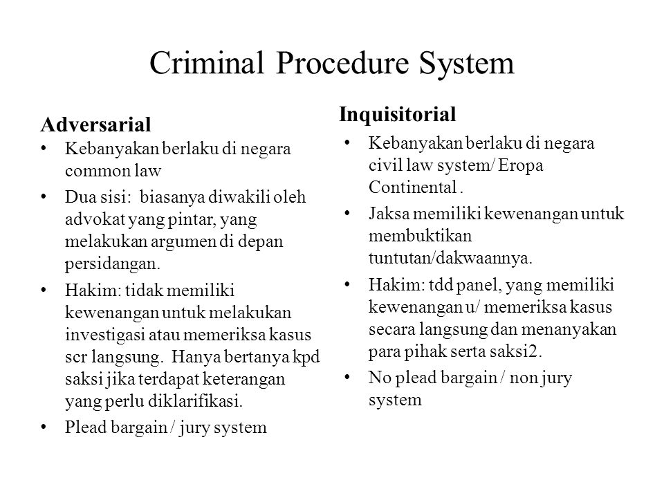 Criminal Procedure System
