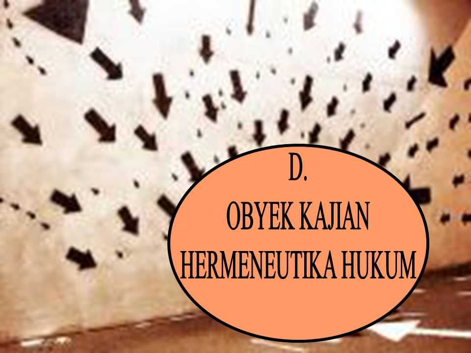 D. OBYEK KAJIAN HERMENEUTIKA HUKUM