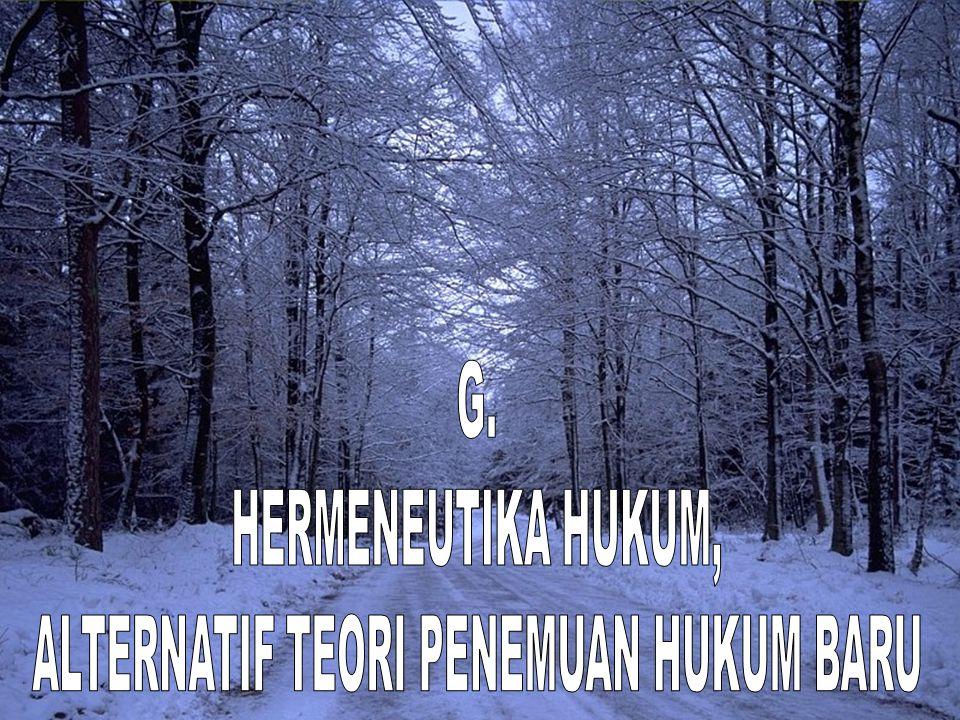 ALTERNATIF TEORI PENEMUAN HUKUM BARU