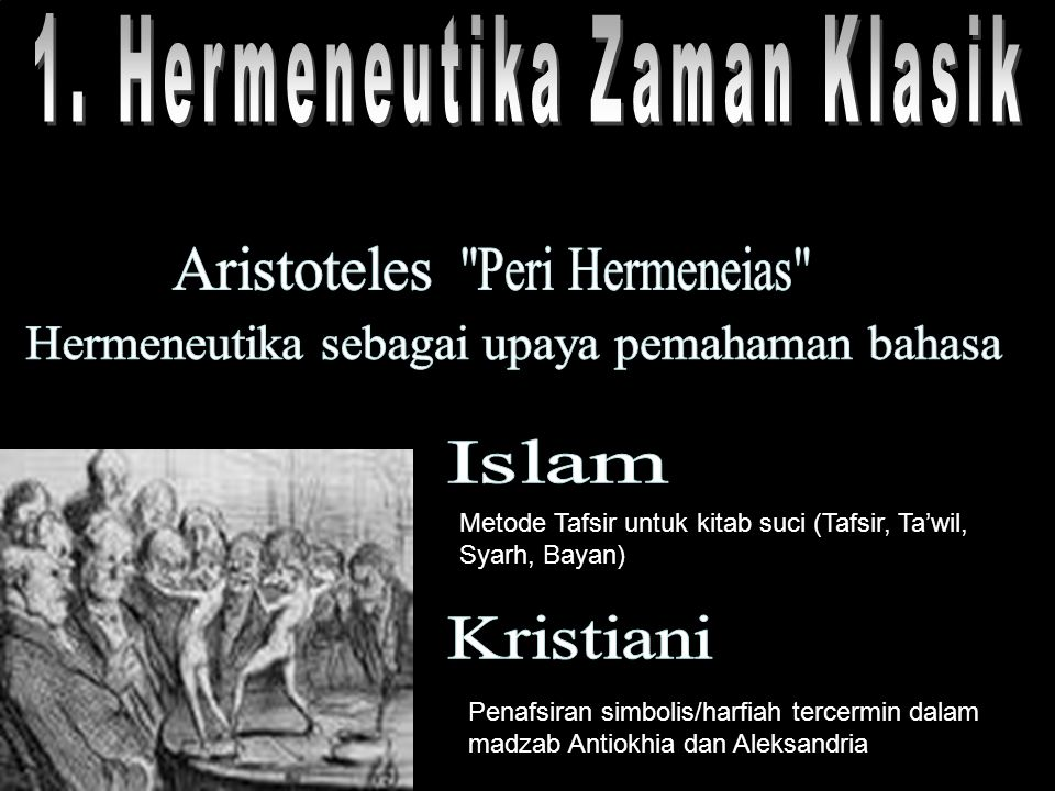1. Hermeneutika Zaman Klasik