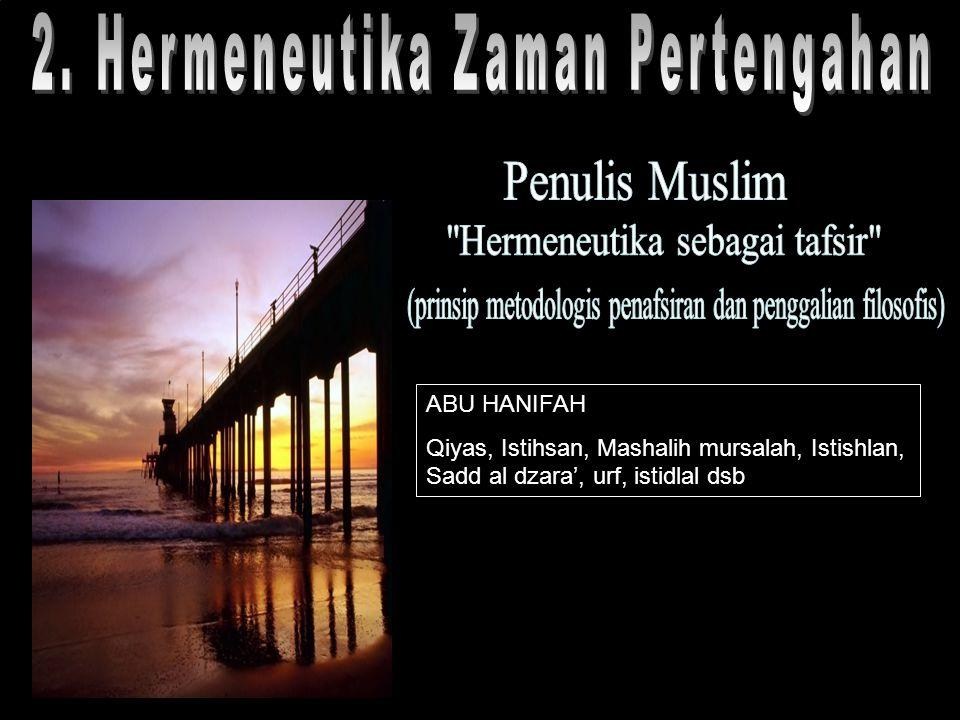 2. Hermeneutika Zaman Pertengahan