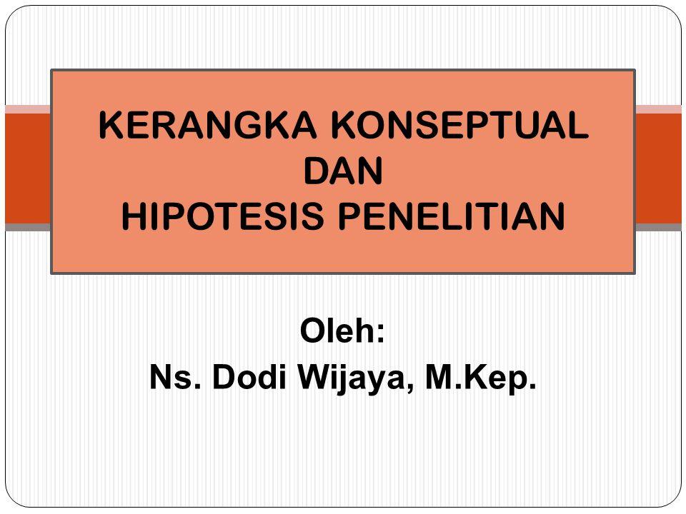KERANGKA KONSEPTUAL DAN HIPOTESIS PENELITIAN