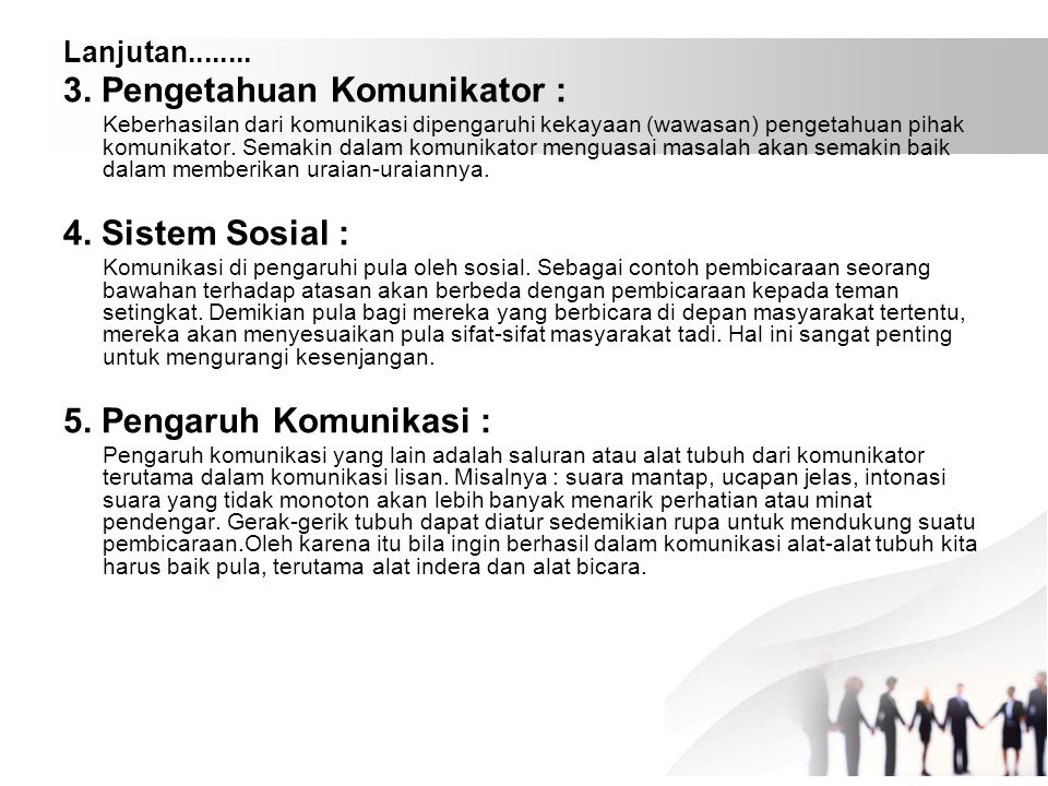 3. Pengetahuan Komunikator :
