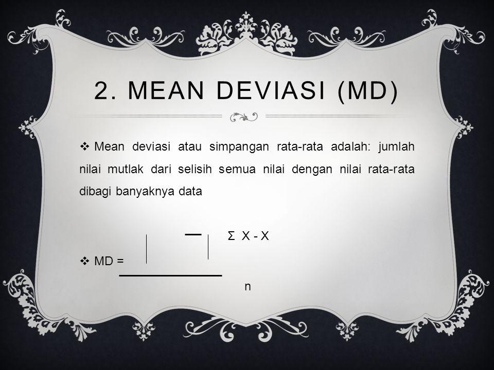2. MEAN DEVIASI (MD)