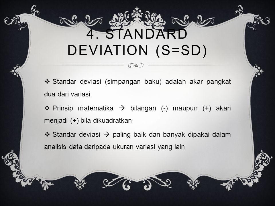 4. STANDARD DEVIATION (S=Sd)