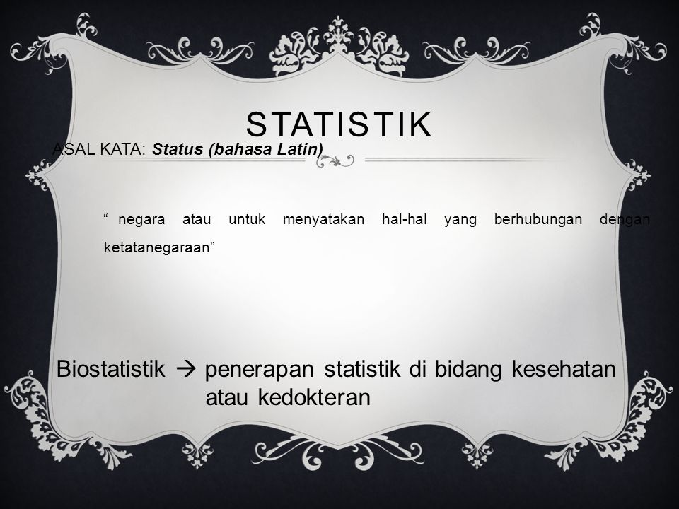 ASAL KATA: Status (bahasa Latin)