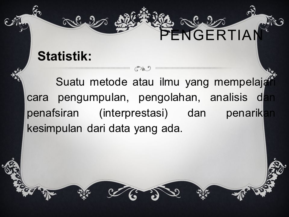 Pengertian Statistik: