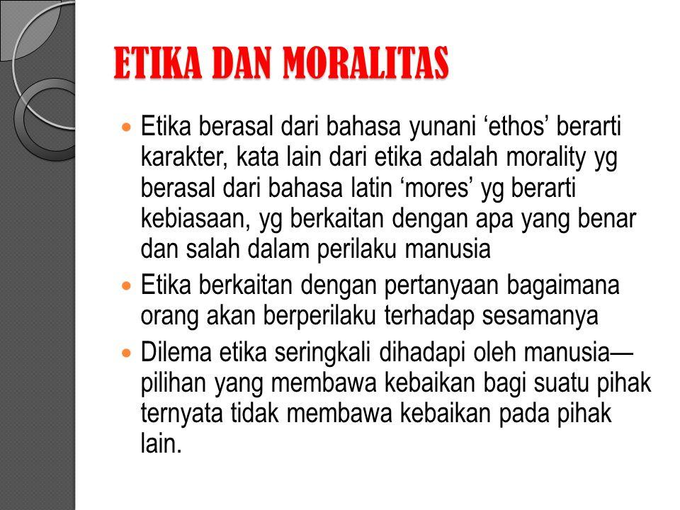 ETIKA DAN MORALITAS