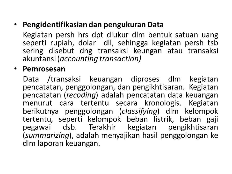 Pengidentifikasian dan pengukuran Data