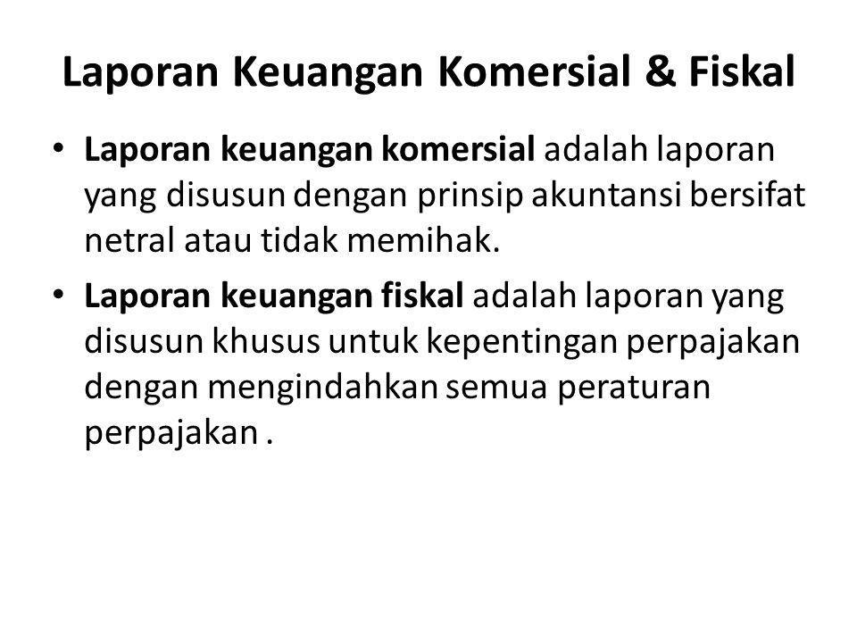 Laporan Keuangan Komersial & Fiskal