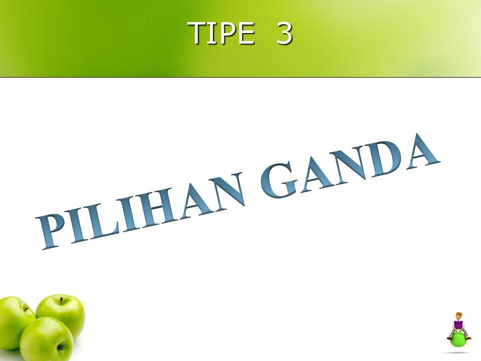 TIPE 3 PILIHAN GANDA