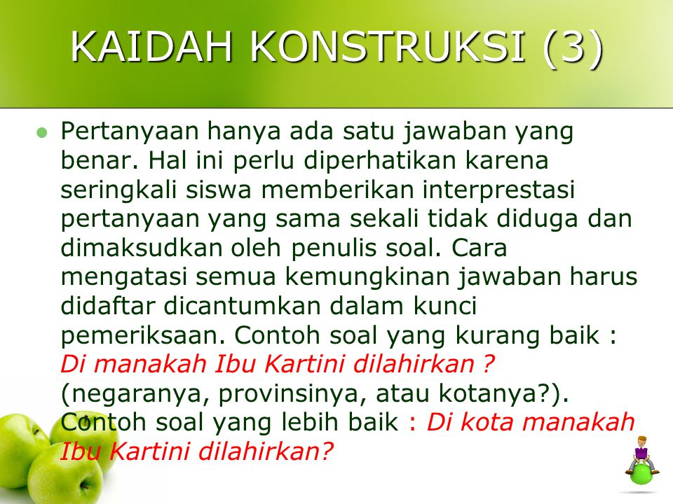 KAIDAH KONSTRUKSI (3)