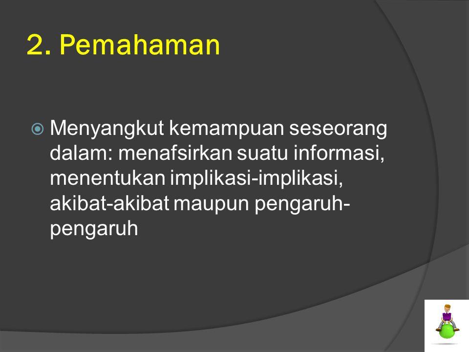2. Pemahaman