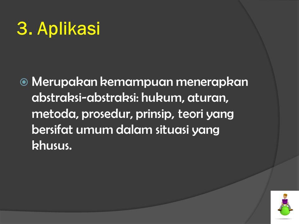 3. Aplikasi
