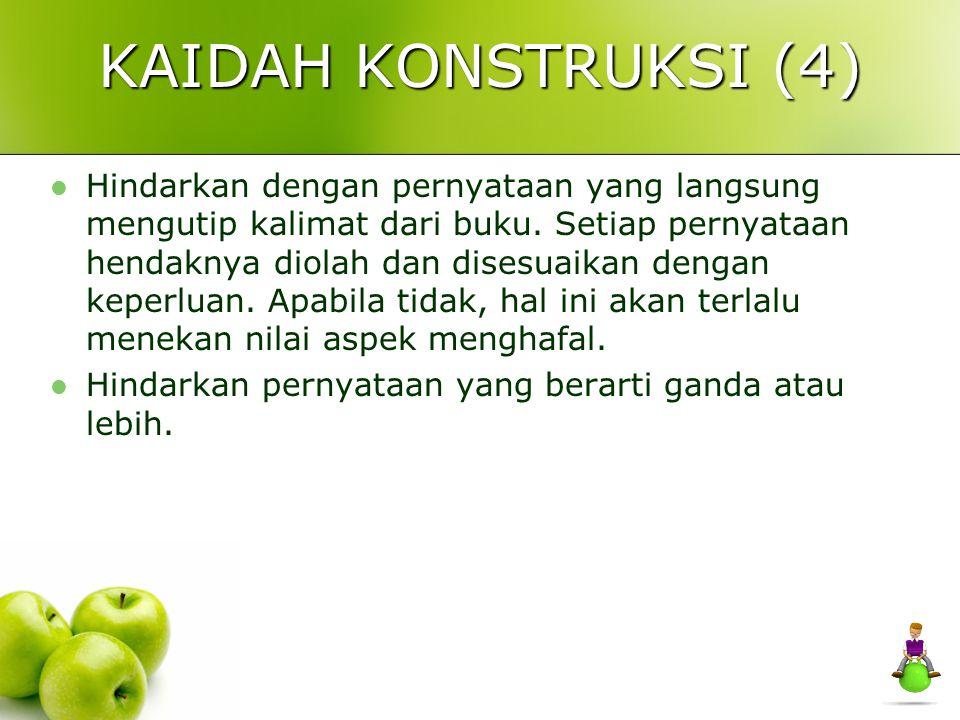KAIDAH KONSTRUKSI (4)
