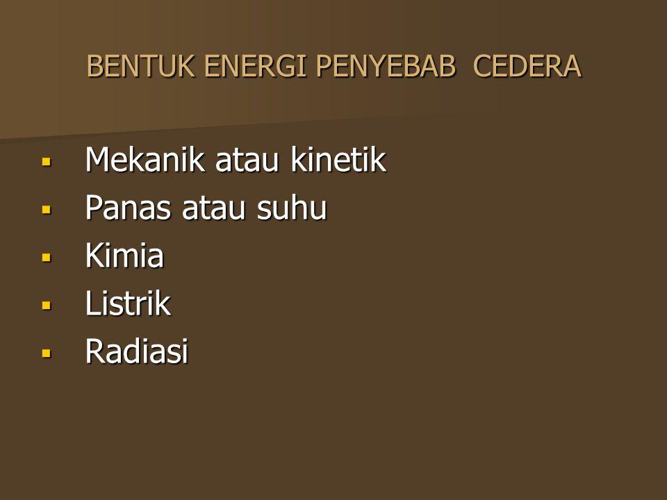 BENTUK ENERGI PENYEBAB CEDERA