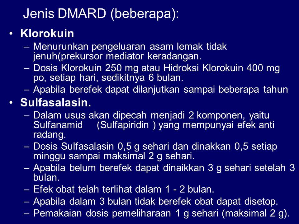 Jenis DMARD (beberapa):