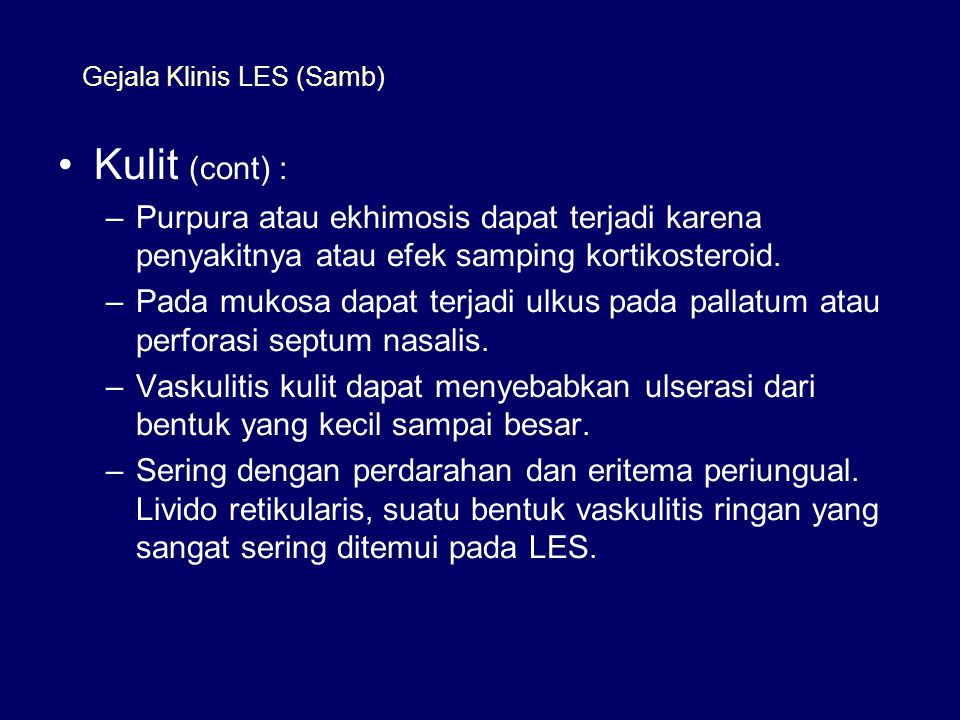 Gejala Klinis LES (Samb)