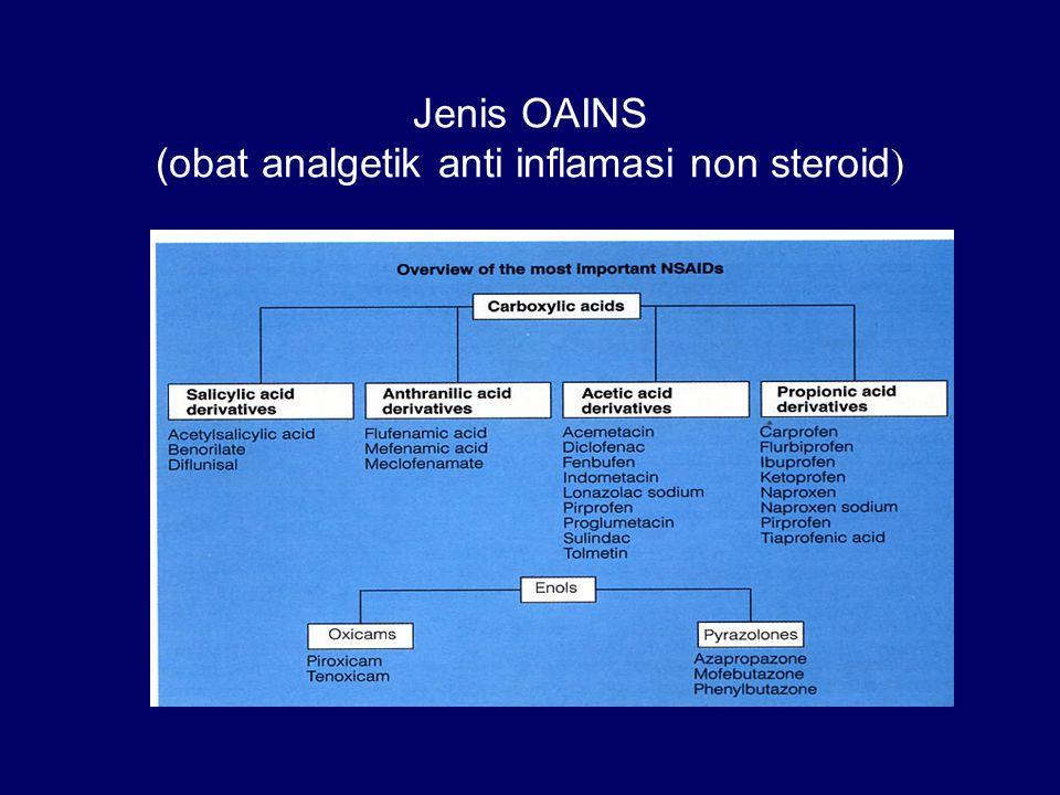 Jenis OAINS (obat analgetik anti inflamasi non steroid)