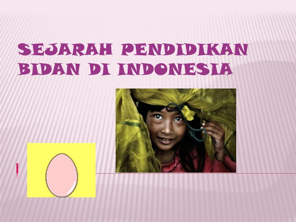 SEJARAH PENDIDIKAN BIDAN DI INDONESIA