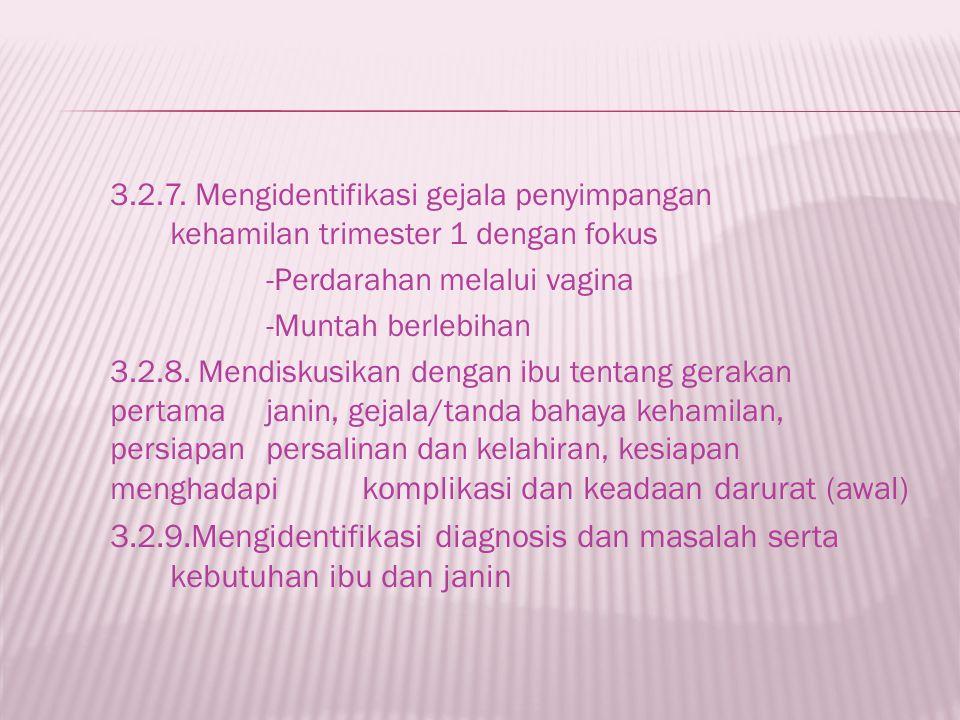 3. 2. 7. Mengidentifikasi gejala penyimpangan