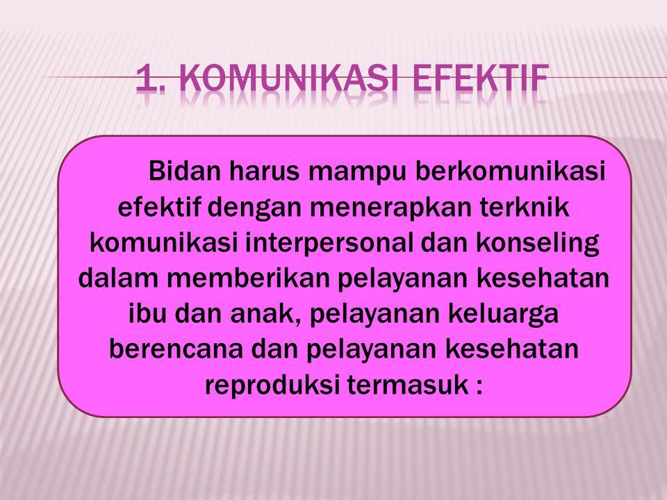 1. Komunikasi Efektif