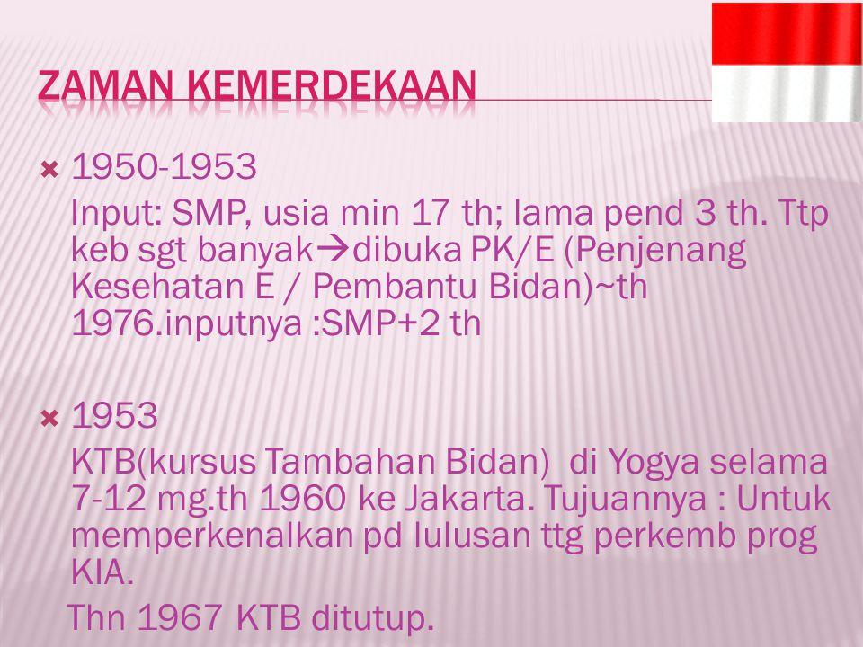 Zaman Kemerdekaan 1950-1953.