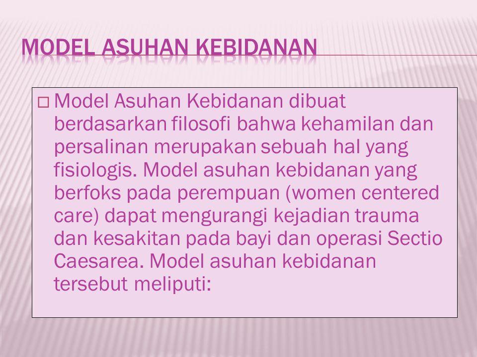 MODEL ASUHAN KEBIDANAN