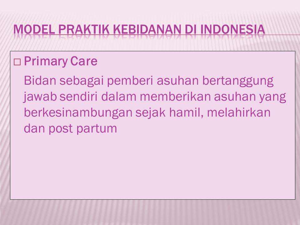 MODEL PRAKTIK KEBIDANAN di INDONESIA
