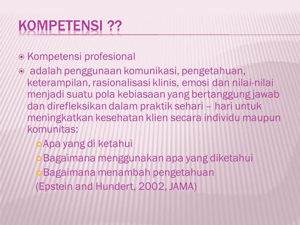 Kompetensi Kompetensi profesional