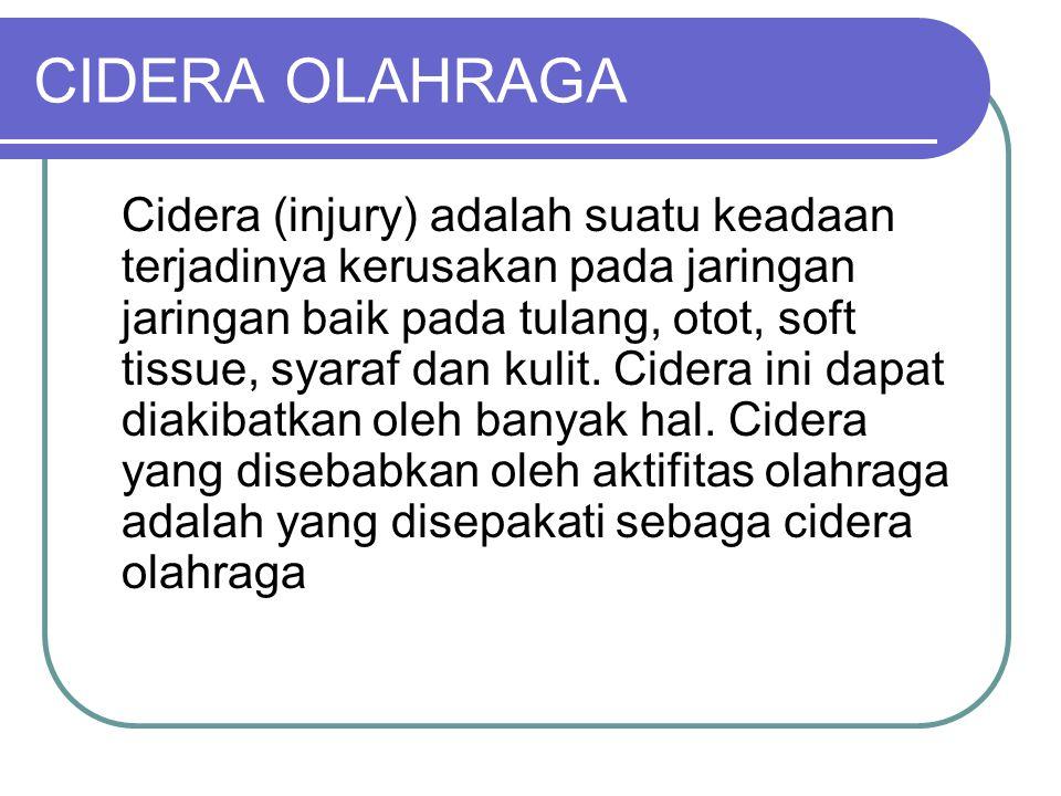 CIDERA OLAHRAGA